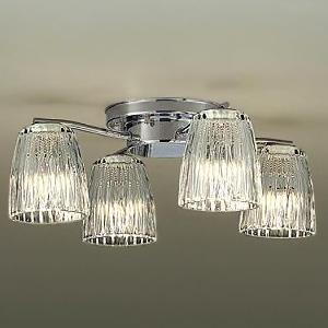 DAIKO LEDシャンデリア ~4.5畳用 ランプ付 白熱灯60W×4灯相当 非調光タイプ 4.7W×4灯 口金E17 電球色タイプ DCH-38212Y