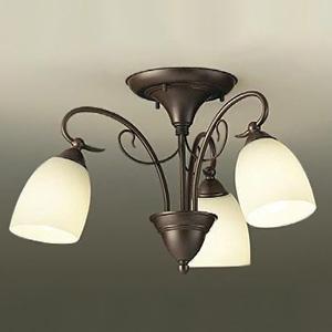 DAIKO LEDシャンデリア ~4.5畳用 ランプ付 ハンドメイド品 白熱灯60W×3灯相当 非調光タイプ 7.5W×3灯 口金E26 電球色タイプ DCH-38779Y:電材堂