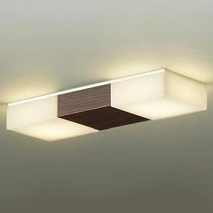DAIKO LED小型シーリングライト 直付タイプ 白熱灯100W×2灯相当 非調光タイプ 電球色タイプ ダークブラウン(木目調) DCL-38568Y