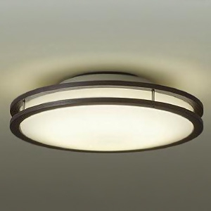 DAIKO LED小型シーリングライト 明るさFHC28W相当 非調光タイプ 電球色タイプ ダークブラウン DCL-39511Y