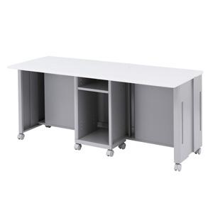 【受注生産品】 サンワサプライ CAIデスク 昇降タイプ 液晶ディスプレイ収納ボックス2台用(2人用) W1600×D600mm CAI-LCD166K