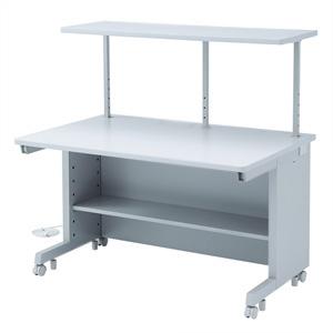 サンワサプライ GEデスク サブテーブル付タイプ W1200×D800mm 電源・ケーブル収納機能付 GE-1283