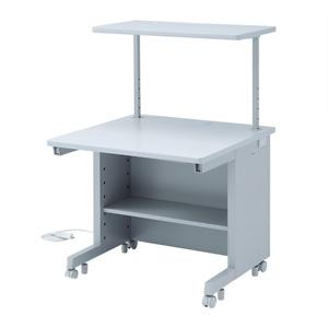 サンワサプライ GEデスク サブテーブル付タイプ W800×D800mm 電源・ケーブル収納機能付 GE-882