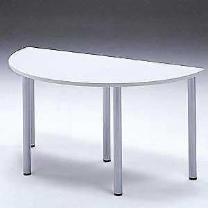 【受注生産品】 サンワサプライ エンドテーブル 半円タイプ W1400×D700mm 連結金具2個付 MEA-ET14