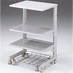 サンワサプライ レーザー&ドットプリンタ台 棚板高さ変更可能 総耐荷重100kg ペーパートレー付 SPS-085NK