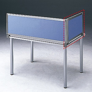 サンワサプライ デスク用サイドパーティション サイドパネルAタイプ W665×H400mm ブルー OU-04SDCA3006