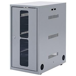 サンワサプライ タブレット・スレートPC収納保管庫 10台収納 鍵付き扉・鍵付バックパネル 総耐荷重70kg CAI-CAB7