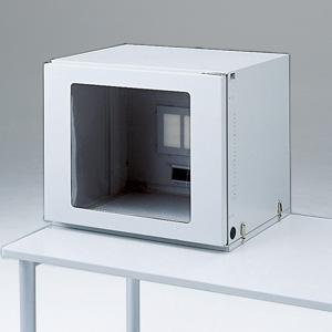 サンワサプライ 防塵ラック 17型液晶ディスプレイ+省スペースCPU用 総耐荷重100kg MR-FA17LSN