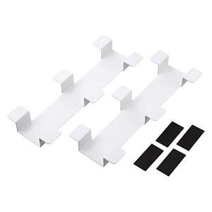【受注生産品】 サンワサプライ ケーブルフックバー タブレット収納保管庫用 ホワイト 2個セット CAI-CABCHB1W