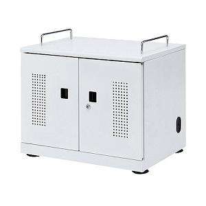 サンワサプライ タブレット収納キャビネット 20台収納 観音扉・鍵付バックパネル CAI-CAB103W
