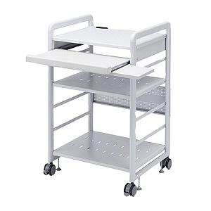 サンワサプライ SOHOラック ロータイプ 棚板組替可能 総耐荷重200kg スライド式マウステーブル付 RAC-S600L