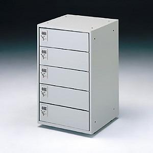 サンワサプライ ノートパソコン収納キャビネット 5台収納 個別扉タイプ 総耐荷重120kg CAI-CAB4-5DN