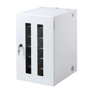 サンワサプライ スマートフォン・小型機器収納保管庫 12台収納 総耐荷重20kg 正面扉・バックパネル鍵付 CAI-CABSP12N