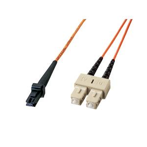 サンワサプライ MT-RJパッチケーブル 2芯タイプ マルチモード コア径50ミクロン MT-RJコネクタ-SCコネクタ×2 1m HKB-MTSC5-1