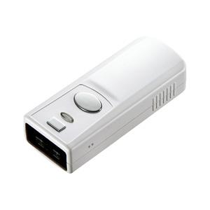 サンワサプライ Bluetoothバーコードリーダ USB充電タイプ シリコンケース付 BCR-001