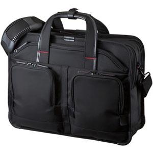 サンワサプライ エグゼクティブビジネスバッグPRO ダブルタイプ 15.6インチワイド対応 軽量タイプ ブラック BAG-EXE8