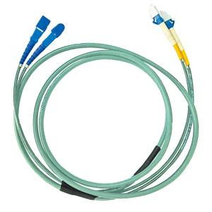 【受注生産品】 サンワサプライ タクティカル光ファイバケーブル 2芯タイプ マルチモード コア径50ミクロン LCコネクタ×2-LCコネクタ×2 5m HKB-LCLCTA5-05