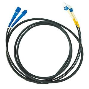 【受注生産品】 サンワサプライ タクティカル光ファイバケーブル 2芯タイプ シングルモード コア径8.3ミクロン SCコネクタ×2-SCコネクタ×2 30m HKB-SCSCTA1-30