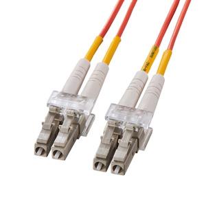 サンワサプライ 光ファイバケーブル 2芯タイプ マルチモード コア径50ミクロン LCコネクタ×2-LCコネクタ×2 ギガビットイーサネット対応 30m HKB-LCLC5-30L