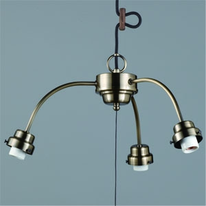 後藤照明 ペンダントライト 3灯用吊具 ビス止めタイプ アームCP型 E26口金 プルスイッチ付 真鍮ブロンズ鍍金 GLF-0271BR