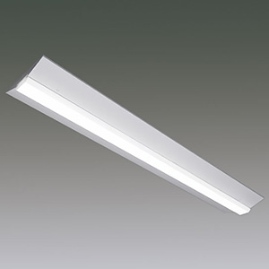 アイリスオーヤマ 一体型LEDベースライト 《LXラインルクス》 40形 直付逆富士型 幅230mmタイプ 非調光タイプ 6900lmタイプ Hf32形×2灯高出力型器具相当 温白色 LX160F-63WW-CL40W