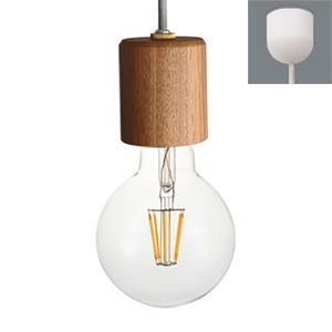 ディクラッセ LEDペンダントライト 《LED Nude》 白熱球60W相当 電球色 口金E26 グレー LP3095GY