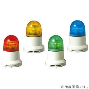 パトライト LED小型表示灯 点灯/点滅/ブザータイプ 定格電圧AC200V φ82mm 黄 PEW-200AB-Y
