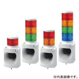 パトライト LED積層信号灯付電子音報知器 ホーン形状タイプ 定格電圧DC24V 最大105dB φ100mm 32音色内蔵(Aタイプ) 1段式(赤) LKEH-102FA-R