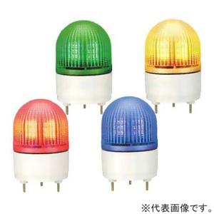 パトライト LED小型表示灯 点滅/流動/ストロボタイプ 定格電圧DC24V φ100mm 黄 KHE-24-Y