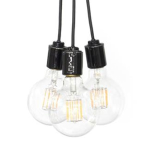 ビートソニック LEDペンダントライト 《blanc2 Flare》 3灯タイプ 引掛シーリング専用 E26口金 電球別売 P02C63-10VB