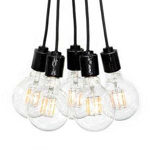 ビートソニック LEDペンダントライト 《blanc2 Flare》 5灯タイプ 引掛シーリング専用 E26口金 電球別売 P03C65-10VB
