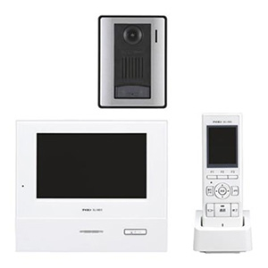アイホン テレビドアホンワイヤレスセット 《ROCOタッチ7》 AC電源直結・タッチパネル式 モニター付親機・子機+充電台+カメラ付玄関子機 WJ-45