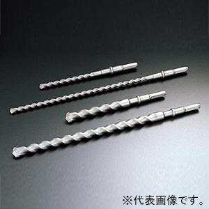 ユニカ 石材用六角軸ビット 法面工事用 HEXSBタイプ 打撃+回転用 刃先径25.0mm 全長800mm シャンク対辺13mm HEXSB25.0X800