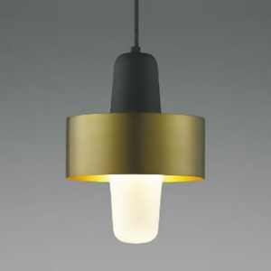 コイズミ照明 LEDランプ交換可能型ペンダントライト 《mekki》 引掛シーリング取付タイプ 4.9W 白熱球60W相当 口金E26 電球色 ブラス色 AP41333L