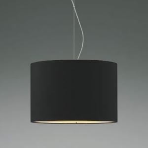 コイズミ照明 LEDランプ交換可能型ペンダントライト 《Fabric Pendant》 4.9W 白熱球60W相当 口金E26 電球色 黒色 XP44543L