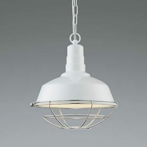 コイズミ照明 LEDランプ交換可能型ペンダントライト 《WORKERS LAMP》 7.1W 白熱球60W相当 口金E26 電球色 白色塗装 AP45544L