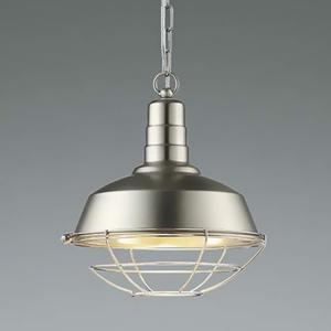 コイズミ照明 LEDランプ交換可能型ペンダントライト 《WORKERS LAMP》 7.1W 白熱球60W相当 口金E26 電球色 ニッケルメッキつや消し AP45545L