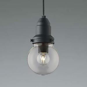コイズミ照明 LEDランプ交換可能型ペンダントライト 《ethane》 ライティングレール取付タイプ 1.8W 電球形クリアランプ 口金E17 電球色 黒サテン塗装 AP45584L