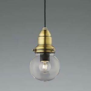 コイズミ照明 LEDランプ交換可能型ペンダントライト 《ethane》 埋込タイプ 埋込穴φ50mm 1.8W 電球形クリアランプ 口金E17 電球色 しんちゅう古美色メッキ AP45588L