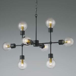 コイズミ照明 LEDランプ交換可能型シャンデリア 《ethane》 14.4W 電球形クリアランプ×8灯 口金E17 電球色 AA45627L