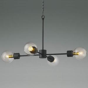 コイズミ照明 LEDランプ交換可能型シャンデリア 《ethane》 7.2W 電球形クリアランプ×4灯 口金E17 電球色 AA45628L