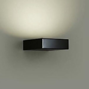 DAIKO LEDブラケットライト 密閉型 白熱灯100Wタイプ 電球色 調光タイプ 上向付・下向付兼用 カバーバネ式 拡散パネル付 ブラック DBK-37853
