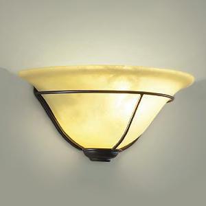 DAIKO LEDブラケットライト 電球色 非調光タイプ 白熱灯60Wタイプ E17口金 壁面取付専用 アラバスタ風塗装 DBK-38916Y
