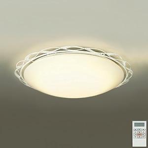 DAIKO LEDシーリングライト ~12畳用 ハンドメイド品 プルレス調色・調光タイプ(昼光色~電球色) 46W タイマー付リモコン付属 アイボリーアンティーク色 DCL-38708