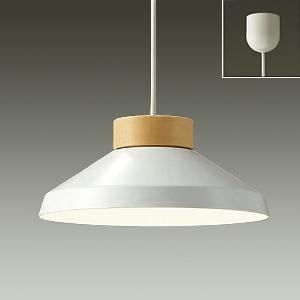 DAIKO LEDペンダントライト 電球色 非調光タイプ LEDフラット形(径75mm) 中角形 白熱灯60Wタイプ 引掛シーリング取付式 白 DPN-38900Y