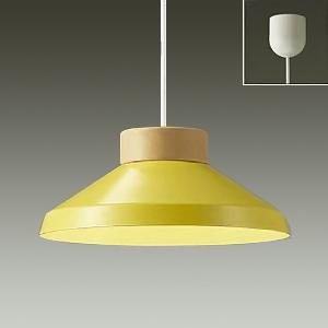 DAIKO LEDペンダントライト 電球色 非調光タイプ LEDフラット形(径75mm) 中角形 白熱灯60Wタイプ 引掛シーリング取付式 ペールイエロー DPN-38901Y