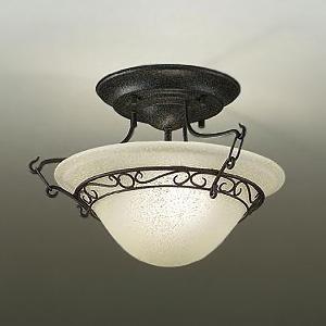 DAIKO LEDシーリングライト ランプ付 ハンドメイド品 白熱灯60W×2灯相当 非調光タイプ 11.6W 口金E17 電球色タイプ ブラックアンティーク色 DCL-38930Y