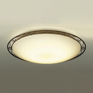 DAIKO LEDシーリングライト ~14畳用 ハンドメイド品 プルレス調色・調光タイプ(昼光色~電球色) 52W タイマー付リモコン付属 ブラックアンティーク色 DCL-38935