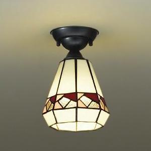 DAIKO LEDシーリングライト ランプ付 ハンドメイド品 白熱灯60W相当 非調光タイプ 4.7W 口金E17 下面開放 電球色タイプ ステンドグラス DCL-39256Y
