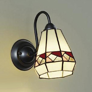 DAIKO LEDブラケットライト ランプ付 ハンドメイド品 白熱灯60W相当 非調光タイプ 4.7W 口金E17 下面開放 電球色タイプ ステンドグラス DBK-39262Y